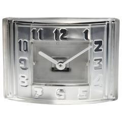 Rare Glass Art Deco Clock by ATO