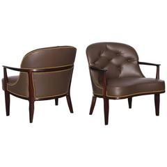 Pair of Low Lounge Chairs #5705 Edward Wormley for Dunbar