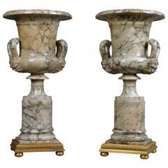 Pair of Neoclassical Alabaster Vases