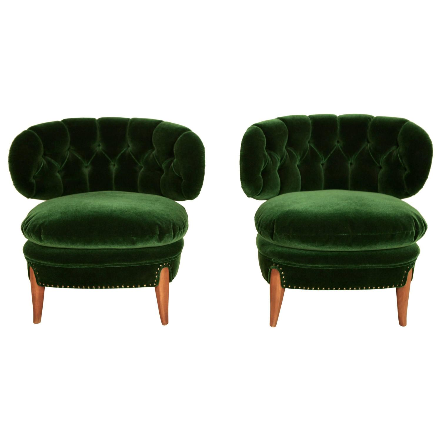 otto schulz pair of cocktail chairs at 1stdibs. Black Bedroom Furniture Sets. Home Design Ideas