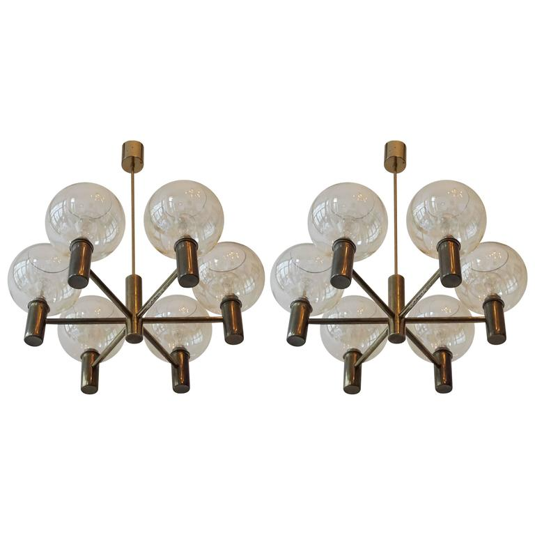 Pair Of Hans Agne Jakobsson Chandeliers For Sale At 1stdibs