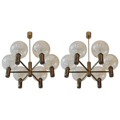 Pair of Hans Agne Jakobsson Chandeliers