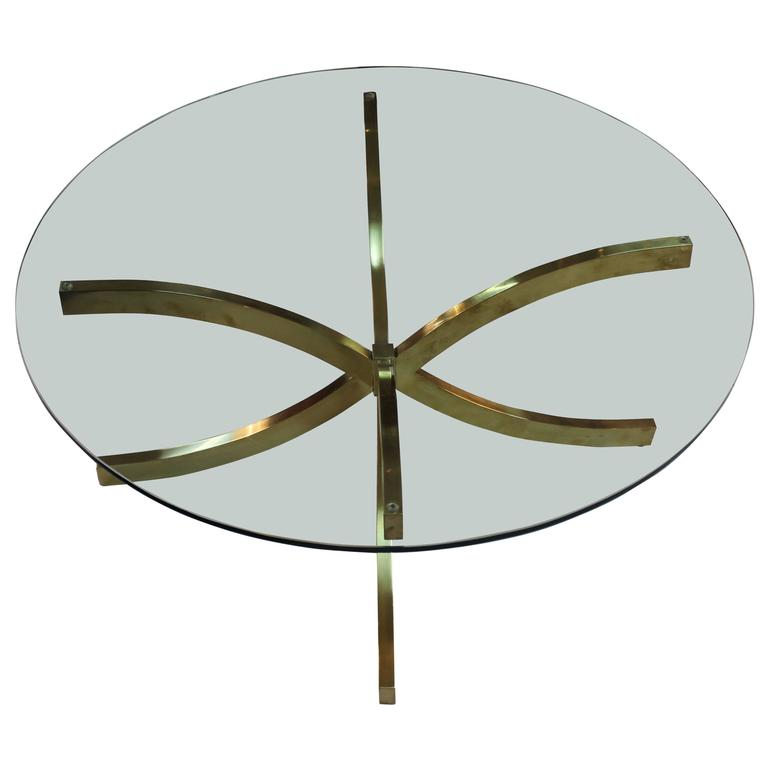 1960s Mid-Century Modern Italian Brass Coffee Table