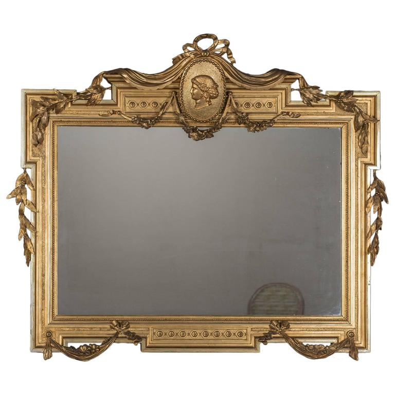 Antique Italian Empire Horizontal Mirror Circa 1850 At