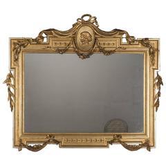 Antique Italian Empire Horizontal Mirror, circa 1850