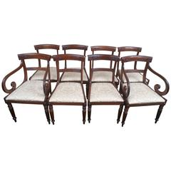 Set of Eight Regency, William IV Style Dining Chairs, circa 1890, England