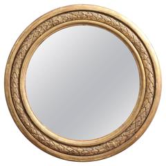 English Regency Giltwood Convex Mirror