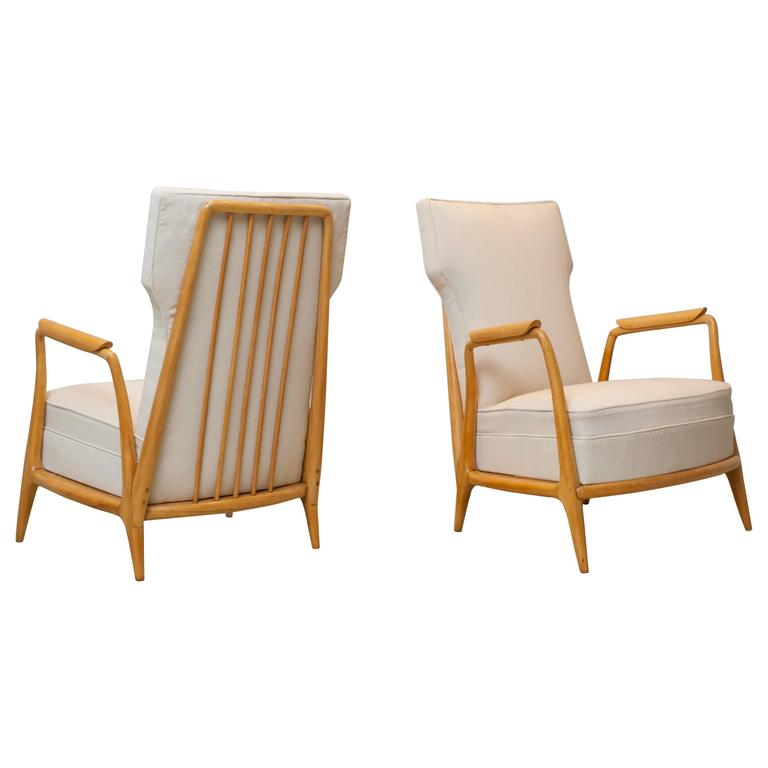 Giuseppe Scapinelli, Pair of Armchairs in Caviuna Wood