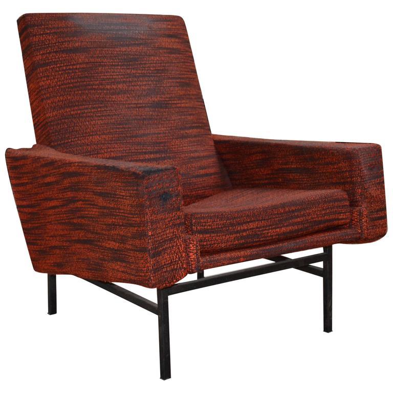 1960s Model 645 Armchair in Red by Pierre Guariche