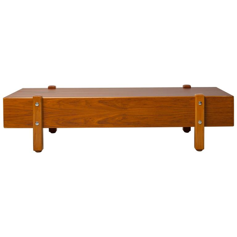 Vintage Sergio Rodrigues, Eleh Bench / Coffee Table, 1965 For Sale