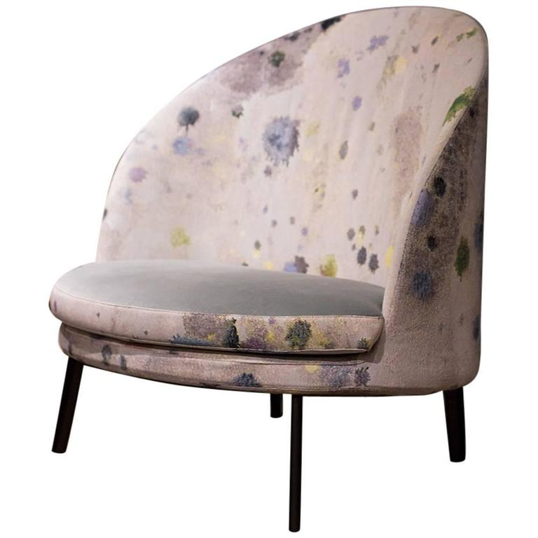 Custom Arflex Jim Chair with Martyn Thompson Studio Splat Upholstery 1