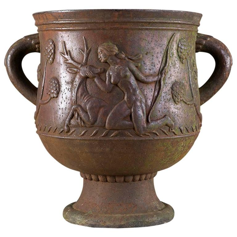 Cast Iron Urn by Ivar Johnsson, 1919 For Sale