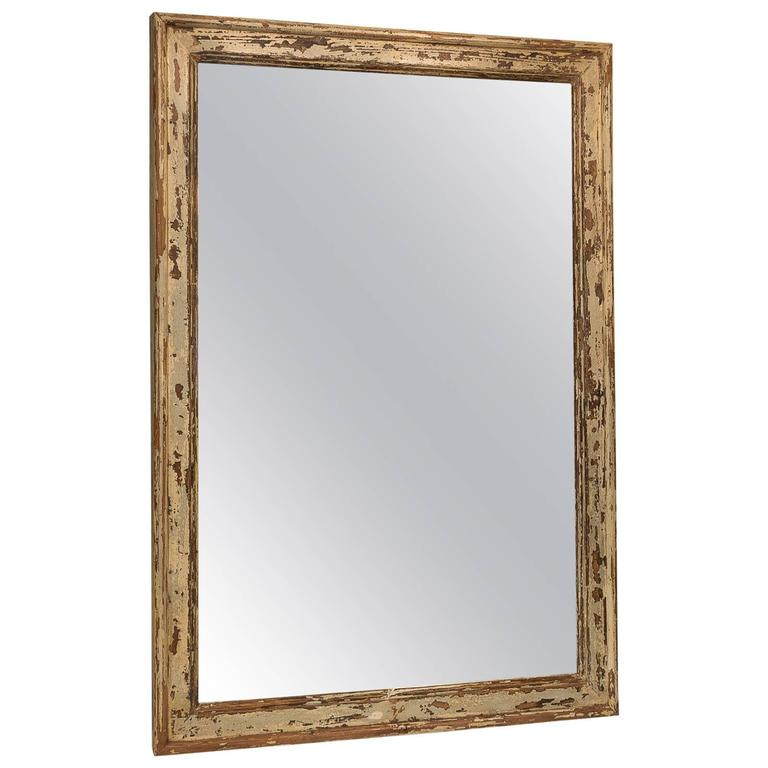 Large distressed french pine mirror at 1stdibs for Floor length mirror for sale