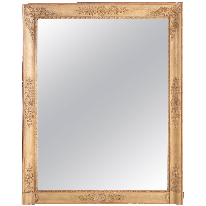 French 19th Century Empire Giltwood Mantel Mirror
