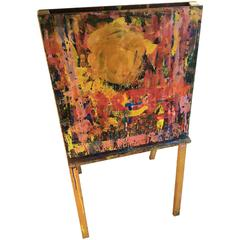 Art Easel, Double-Sided, from Elementary School in Maine