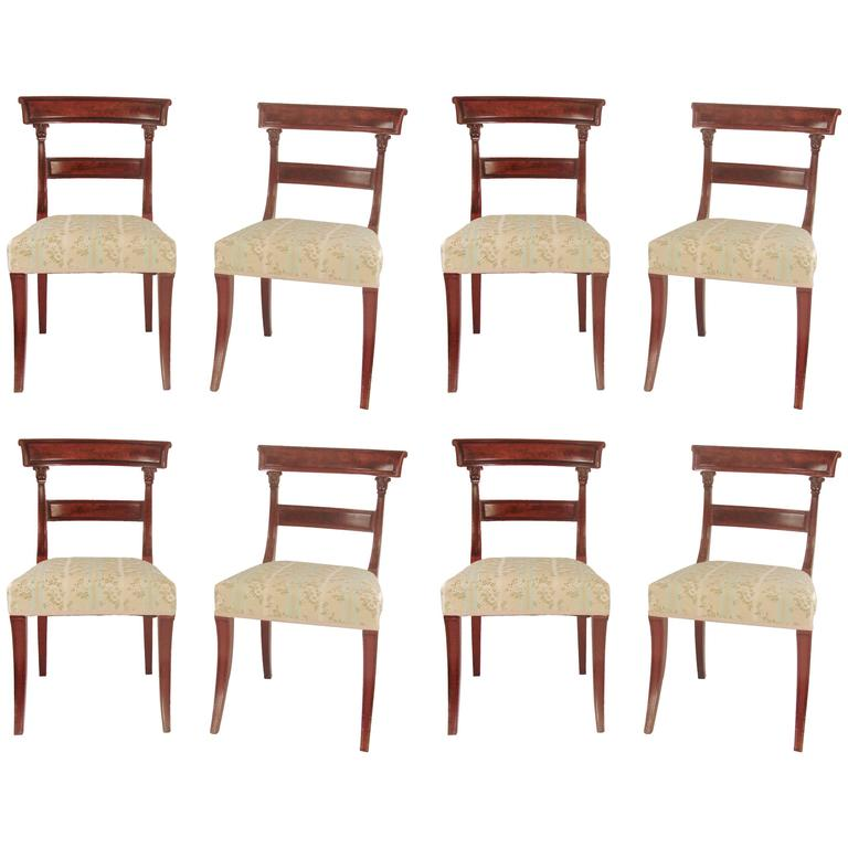 this set of eight regency mahogany dining chairs is no longer