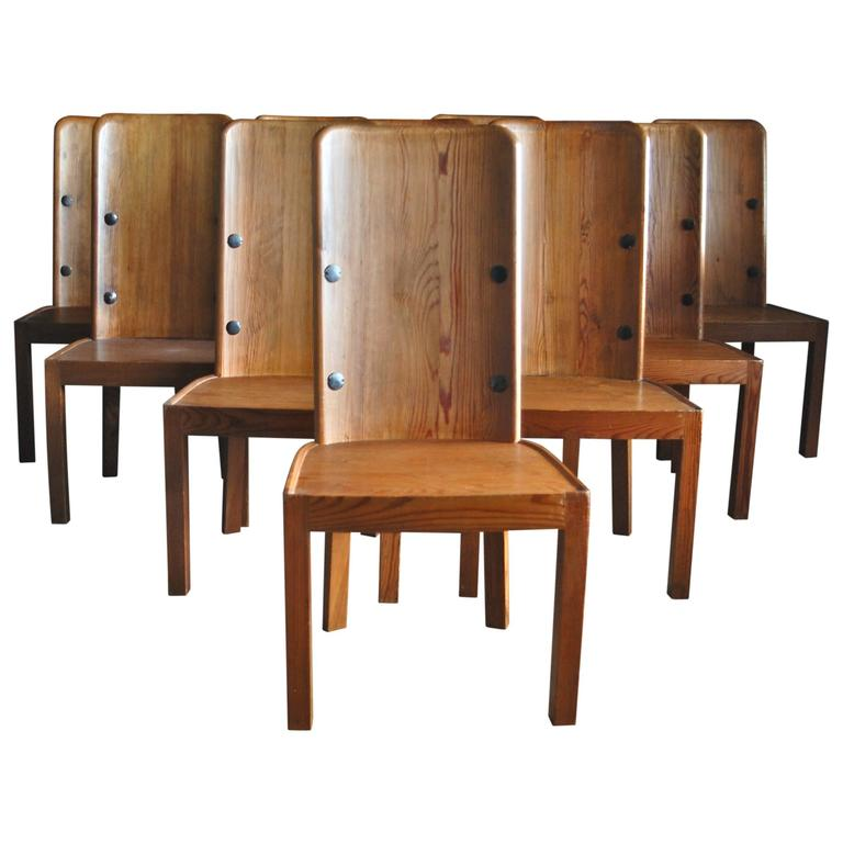 "Set of Ten ""Lovo"" Chairs by Axel Einar Hjorth"