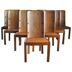 "Set of Ten ""Lovo"" Chairs by Axel Einar Hjorth"