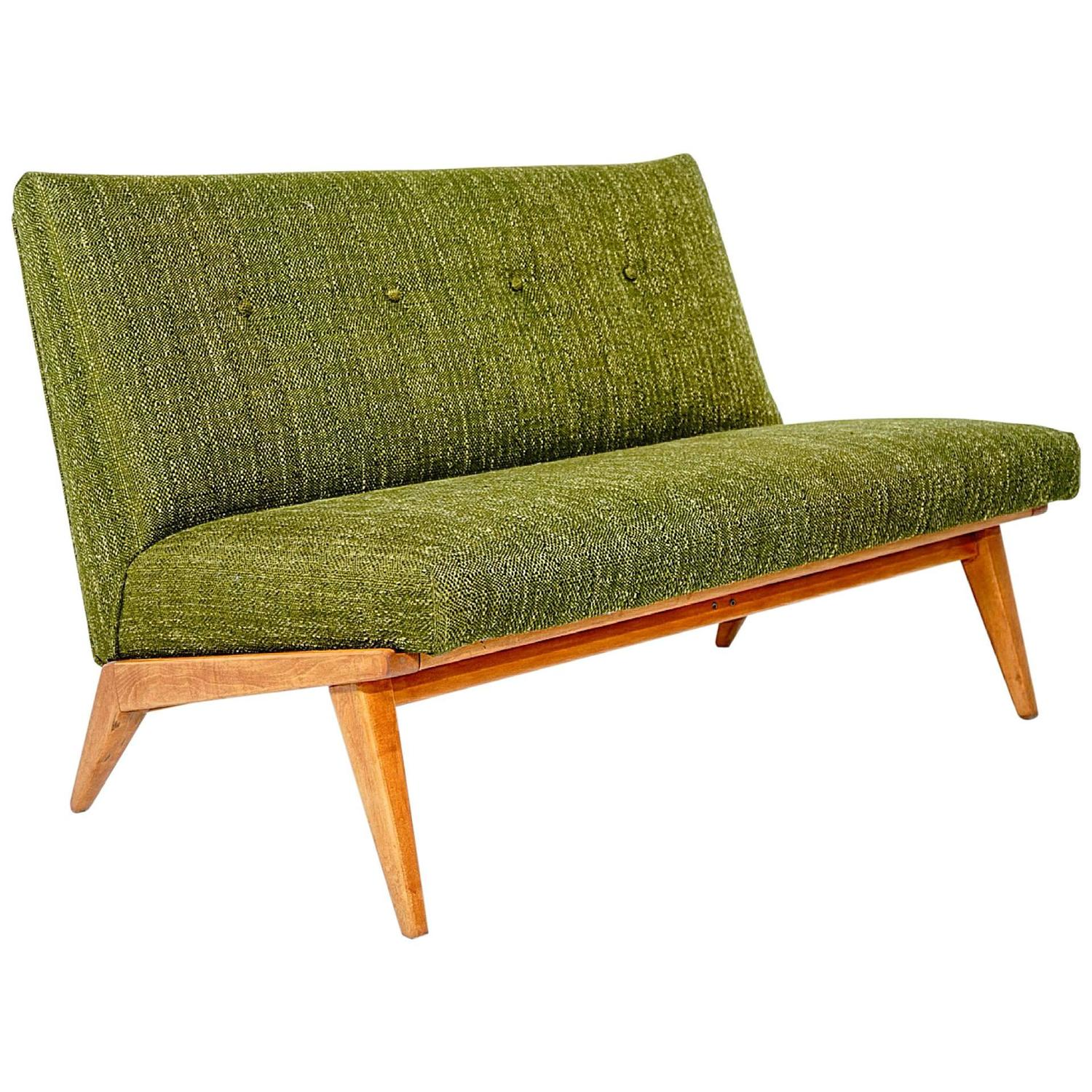Gorgeous Mid Century Modern Knoll Settee By Jens Risom At