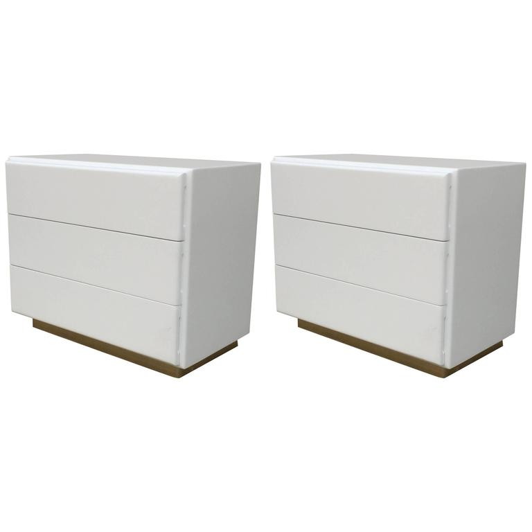Pair of Large Nightstands or Chest by Milo Baughman for Thayer Coggin