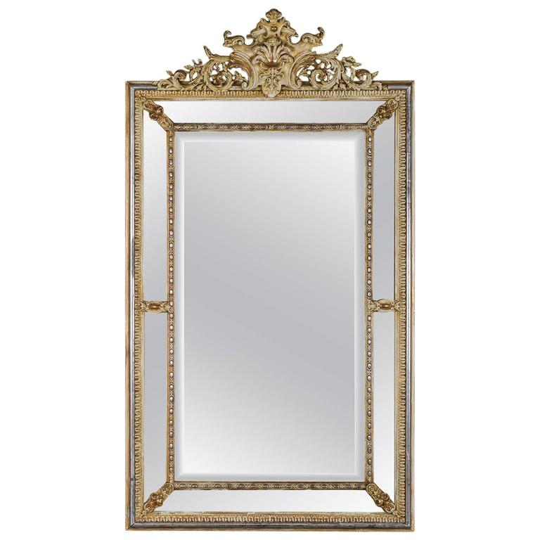 Antique regence style pareclose french mirror circa 1880 for Antique style wall mirror