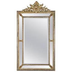 Antique Regence Style Pareclose French Mirror, circa 1880