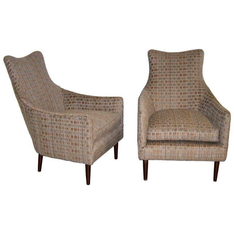 Pair of Mid-Century Armchairs in the Manner of Adrian Pearsall