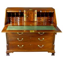 Bureau Desk 18th Century Georgian with Secret Compartments Cuban Mahogany