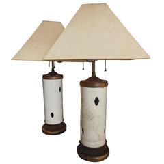 Pair of Vintage 1940s Chinese Lamps