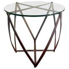 Bronze side table by John Vesey