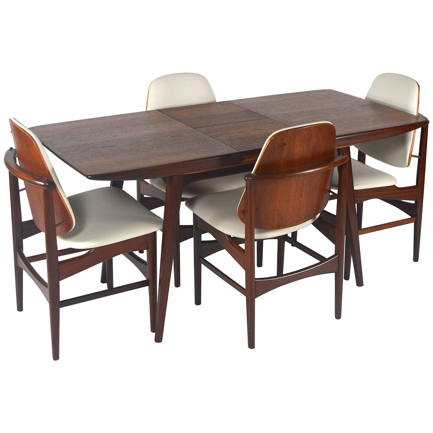 elegant teak dining set by louis van teeffelen for webe
