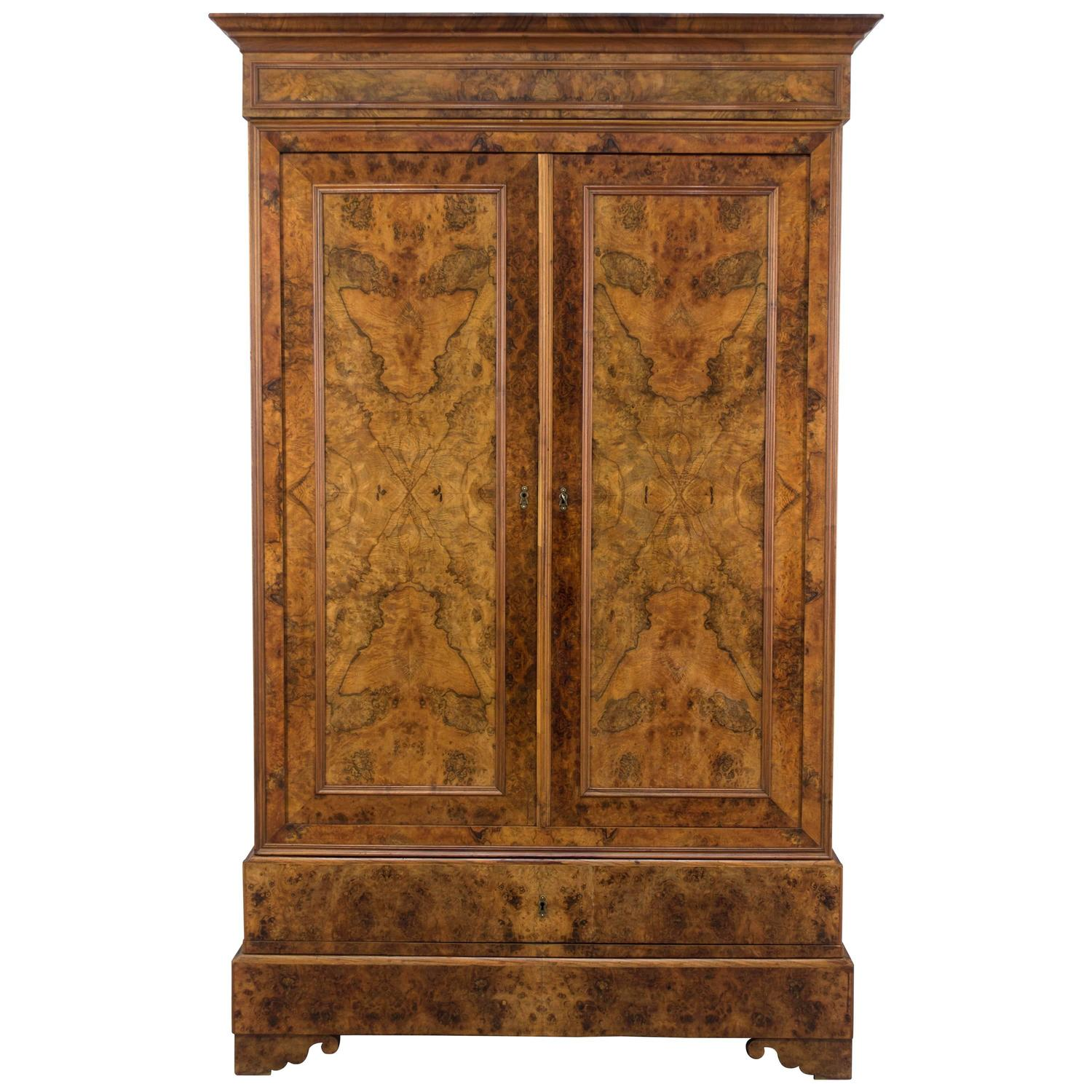 19th century louis philippe armoire at 1stdibs. Black Bedroom Furniture Sets. Home Design Ideas