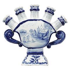 Delft Type Tulip Vase