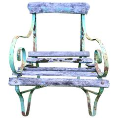 Charming Wrought Iron Garden Chair