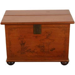 Late 19th Century Painted Chinese Trunk