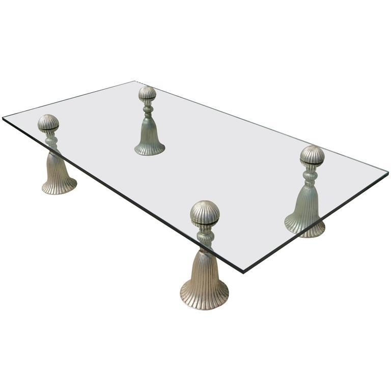 Silver Tassel Coffee Table by Phyllis Morris