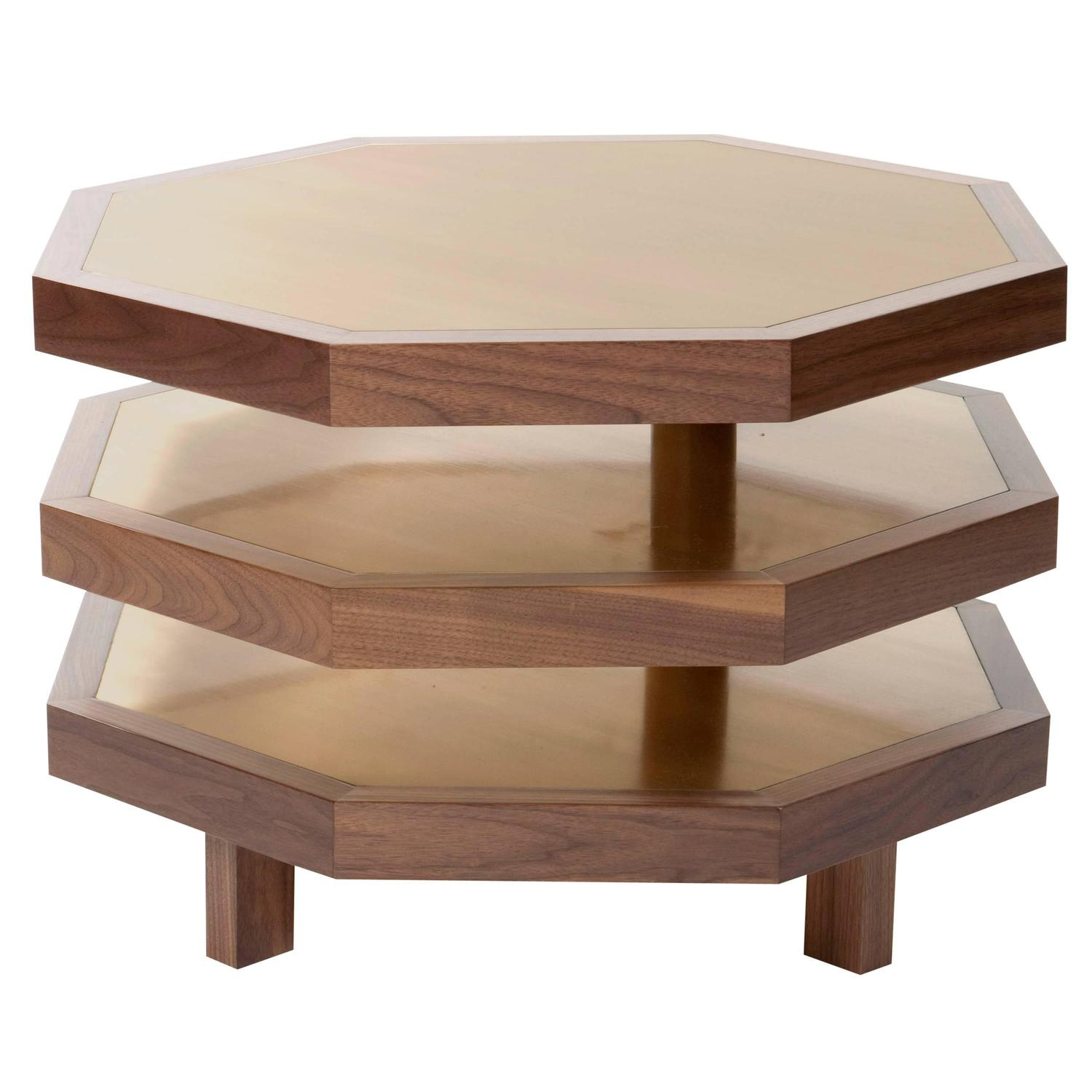 Octagon coffee table octagonal coffee table by baker for Octagon coffee table