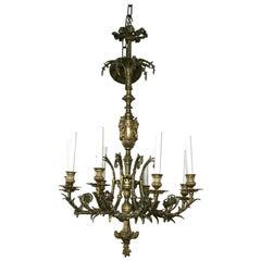 Louis XVI Style 8 Light  Bronze Chandelier