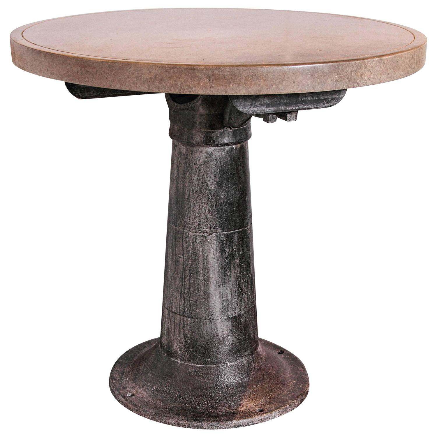 Counter Height Industrial Table : Industrial Counter Height Table at 1stdibs