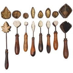 19th Century Set of Eight Corsage Flower Irons from France