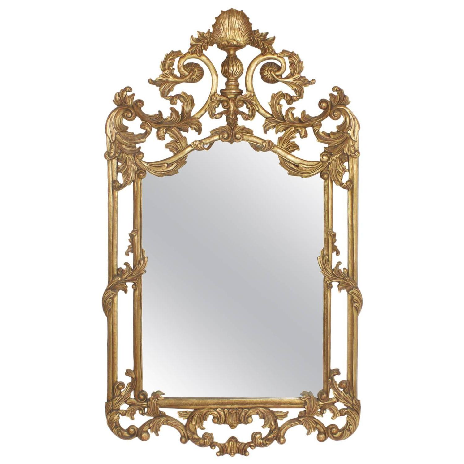 Fancy gilt italian mirror at 1stdibs for Fancy mirror