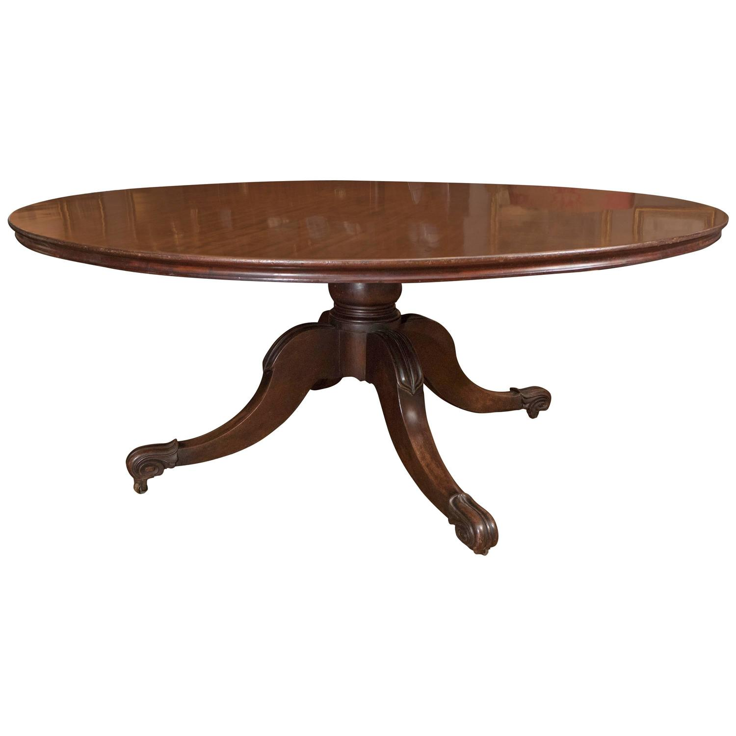 Six foot circular mahogany dining table by mack williams for 5 foot dining room table
