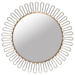 1950s Brass Sun with Mirror