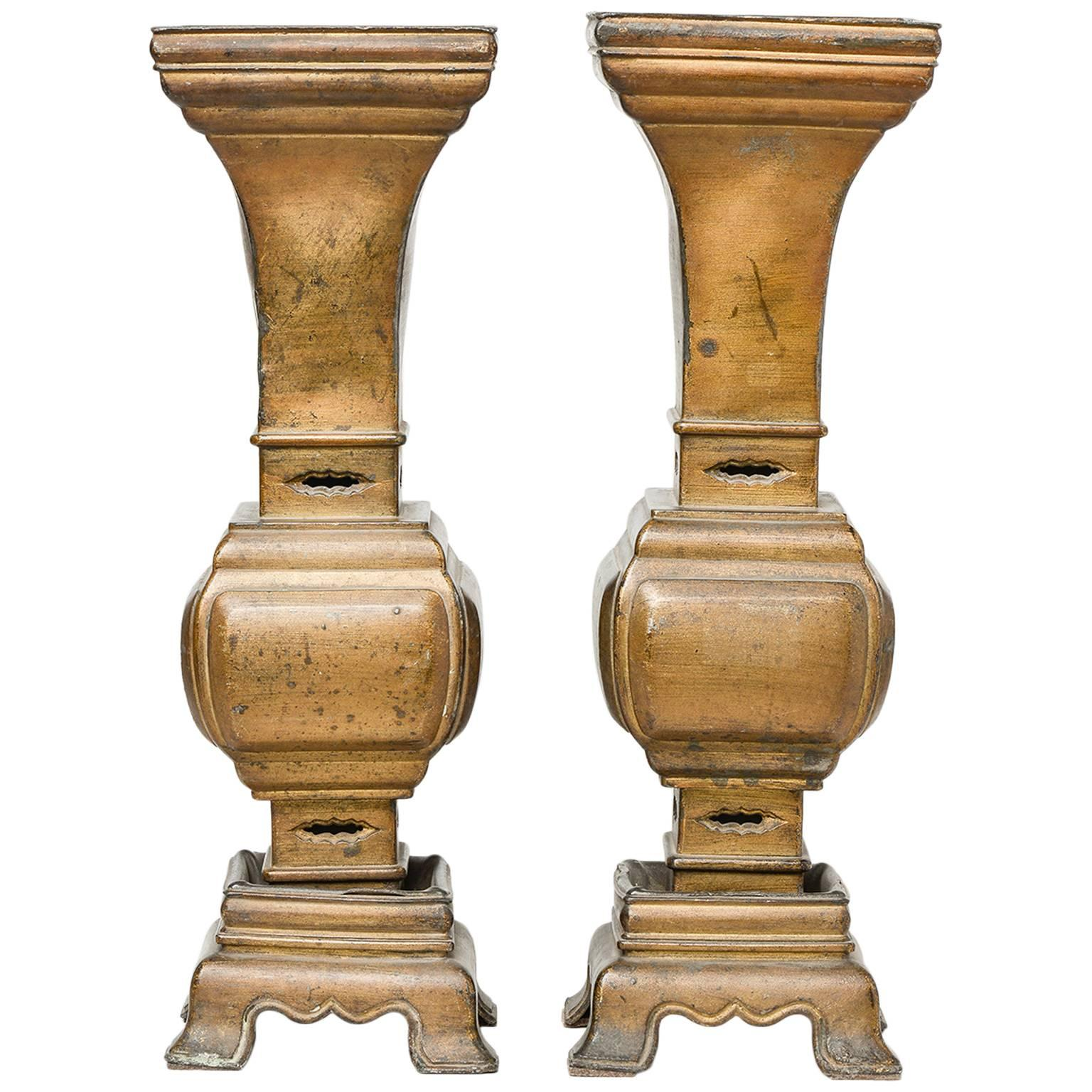 Bronze Chinese Incense Burners or Table Lamps Bases or Vases