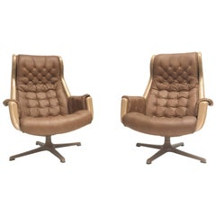 "Pair of ""Galaxy"" easy chairs by Alf Svensson & Ingvar Sandstrom for DUX Sweden"