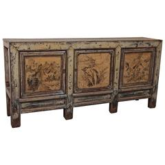 Antique Chinese lacquer sideboard.