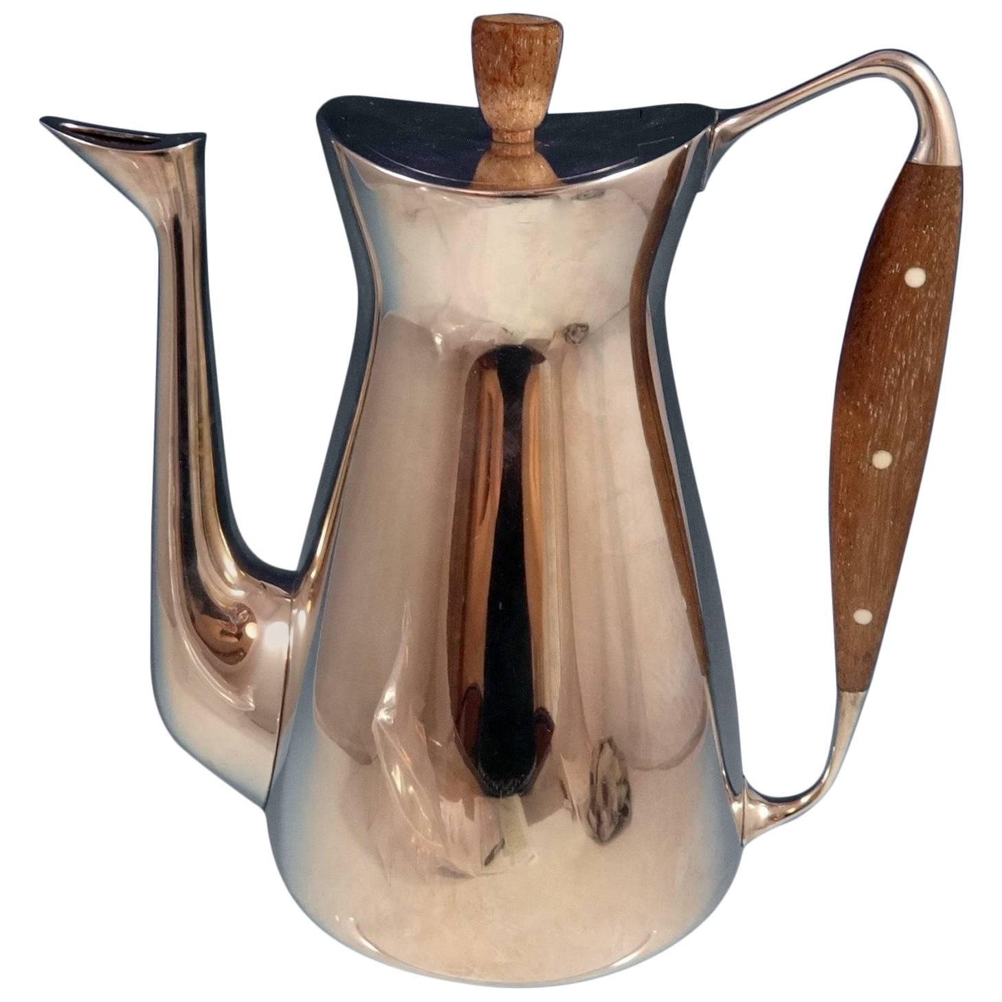 Michelsen Danish Sterling Silver Coffee Pot Modernism Hollowware