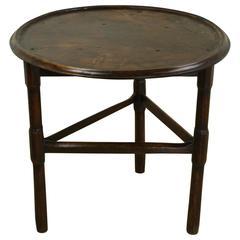 18th Century Welsh Mahogany Cricket Table