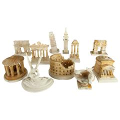 Remarkable Find One Dozen Late 19th Century Grand Tour Architectural Models