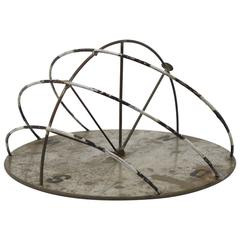 Decorative Iron Sundial, German, Bauhaus Style, 1950s